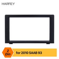 Harfey Double Din Car Radio Fascia Frame Trim Kit for 2010 SAAB 93 DVD Panel Stereo Player Outter Frame Trim Bezel Seicane