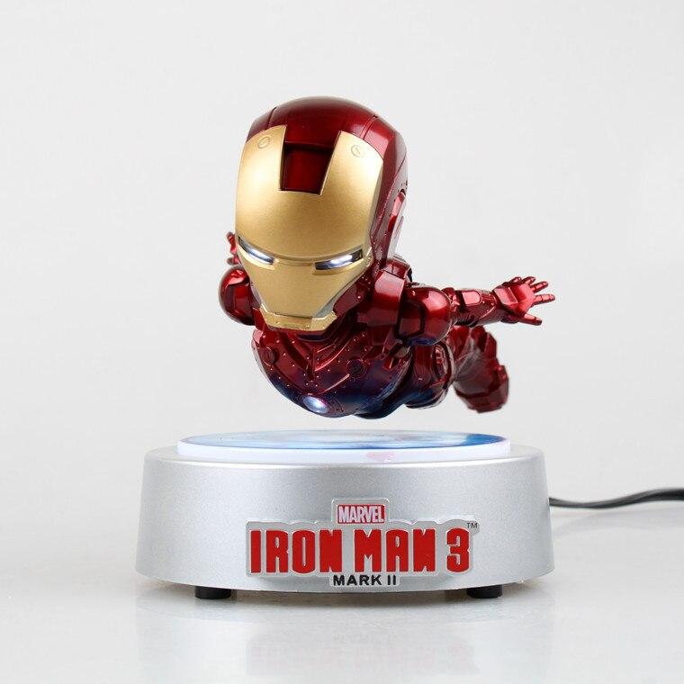 [Limité] les Avengers volant rotatif Iron man MK magnétique flottant ver. Avec lumière LED fer homme figurine cadeau de Collection