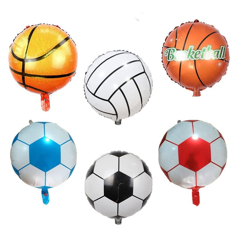 Football Balloon Basketball Volleyball Aluminium Foil Balloons Kid's  Decoration Party Supplies Ballon Birthday Viewing Finals