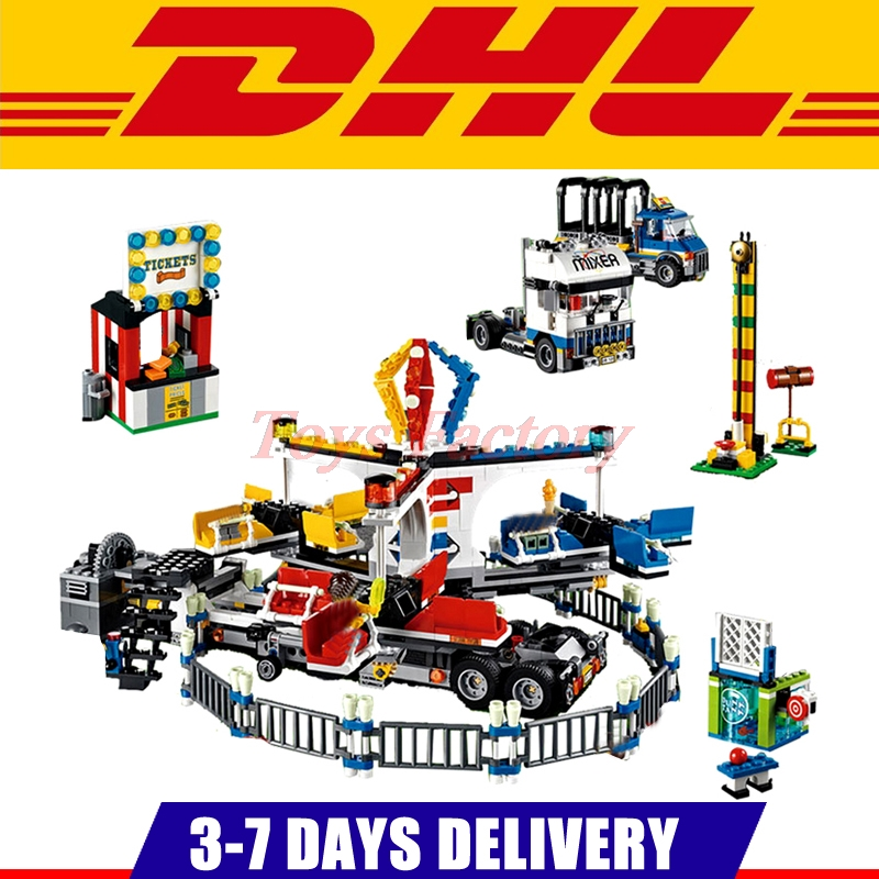 IN Stock Clone 10244  LEPIN 15014 Genuine City Street Series The Amusement Park Giant Stride Carnival Set Building Blocks Toy the unhappy giant level 3