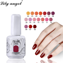 Lilyangel 1pc Nail Gel Polish 15ml Long Lasting UV Soak Off For Extension Art Design 72 White Pure Colors 1-36