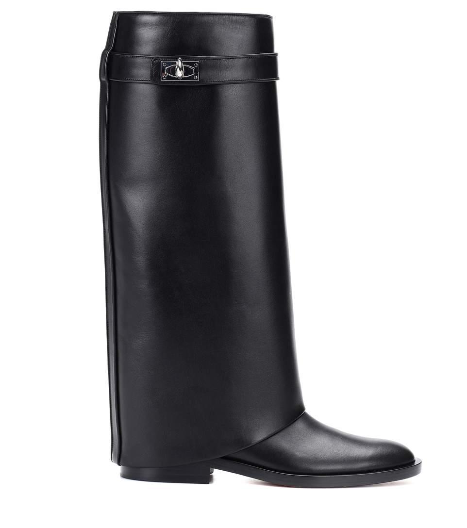 Plus Genou Fois Dames Femmes Wedge Hiver Pour Cuir Hauts Bottes Pic D'hiver Talons Chaussures Piste Sharklock As Style Haute Moto En nIZqWU6