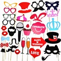 Photo Booth Props 34PCS Party Masks Hat Mustache Lips photobooth props Wedding Party Decoration Birthday Party Favor2017 wedding