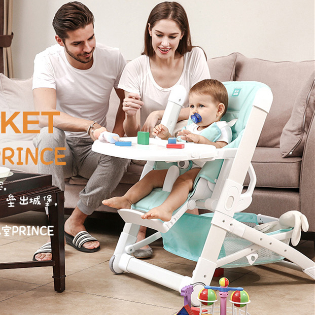 Luxury Mint Baby Feeding High Chair Children Portable