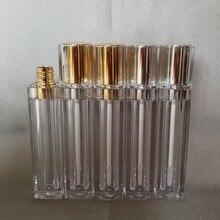8 мл прямоугольный прозрачный блеск для губ/Цветная кремовая трубка бальзам для губ трубка или губная палочка с золотой/серебряной верхней пластиковой пробкой внутри