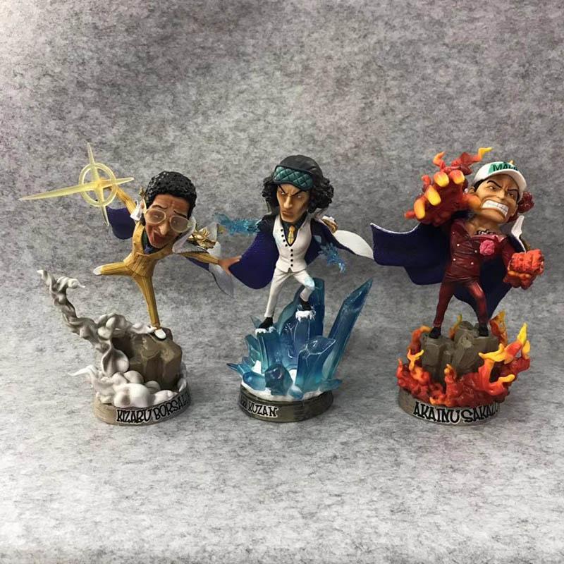 One Piece POP Navy Headquarters Senior General Sakazuki Action Figure Kuzan Borsalino Statue PVC figure Toys