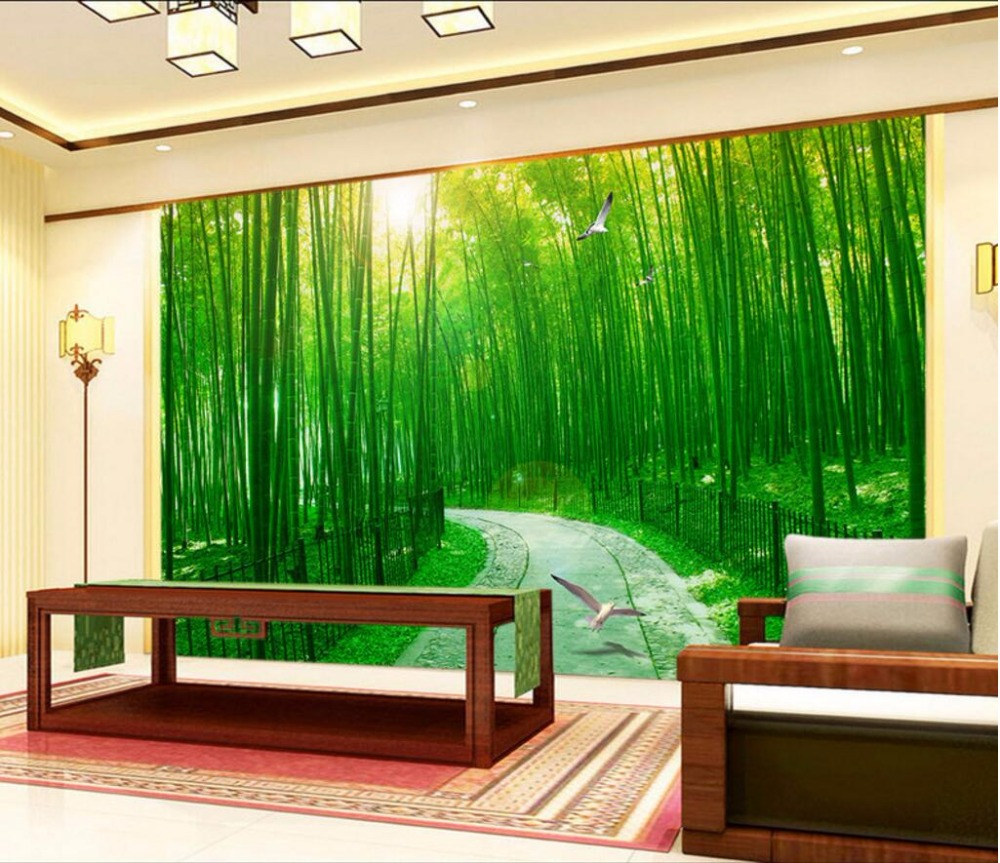 Home wallpaper custom wallpaper home for Bamboo forest wall mural