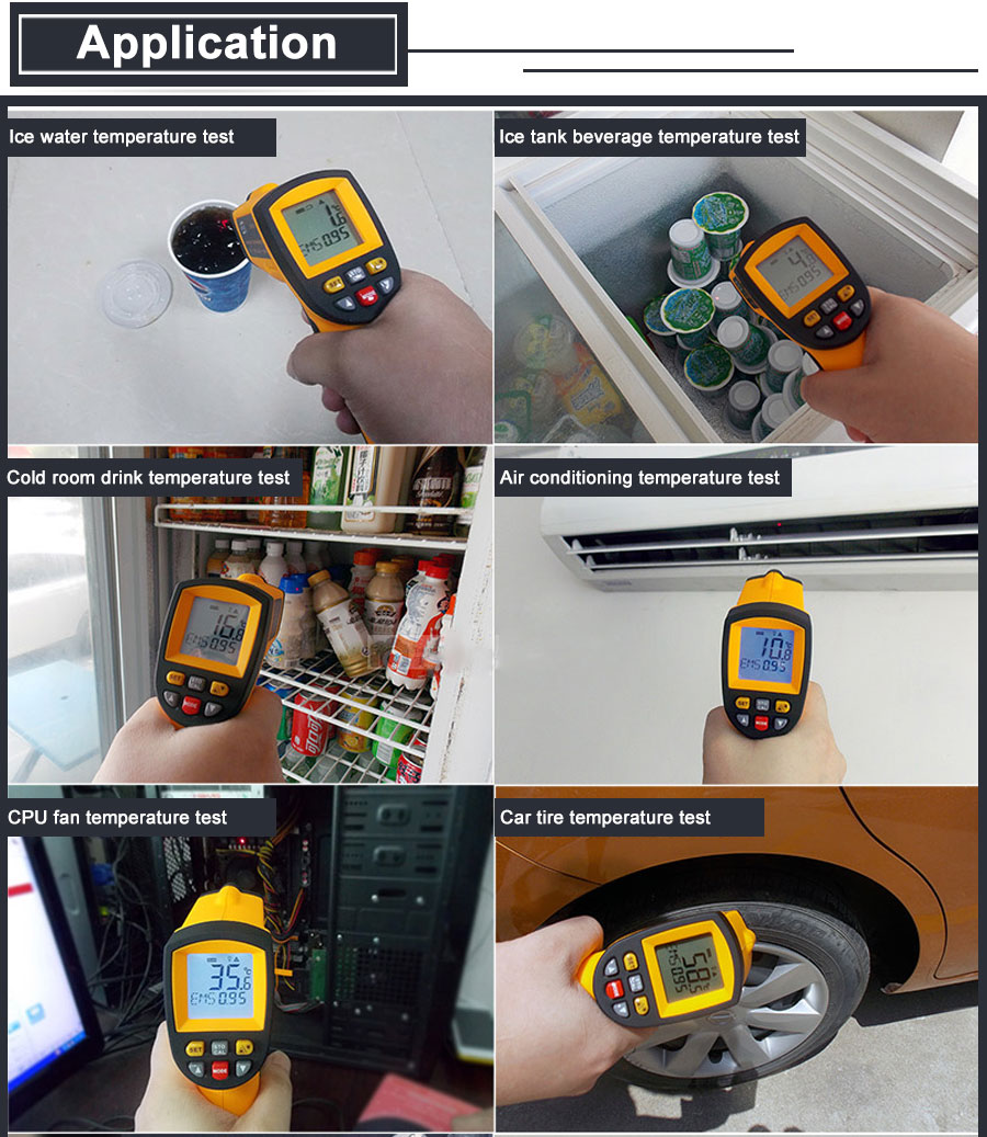HTB1rNd2XEvrK1RjSspcq6zzSXXa3 RZ IR Infrared Thermometer Thermal Imager Handheld Digital Electronic Outdoor Non-Contact Laser Pyrometer Point Gun Thermometer