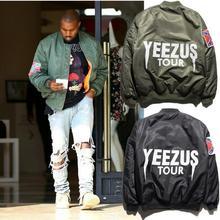 MA1 Бомбардировщик Куртка Kanye West Yeezus Модной Одежды Новый 2016 Зима Женщины Мужчины Джаз Хип-Хоп Куртки Пальто