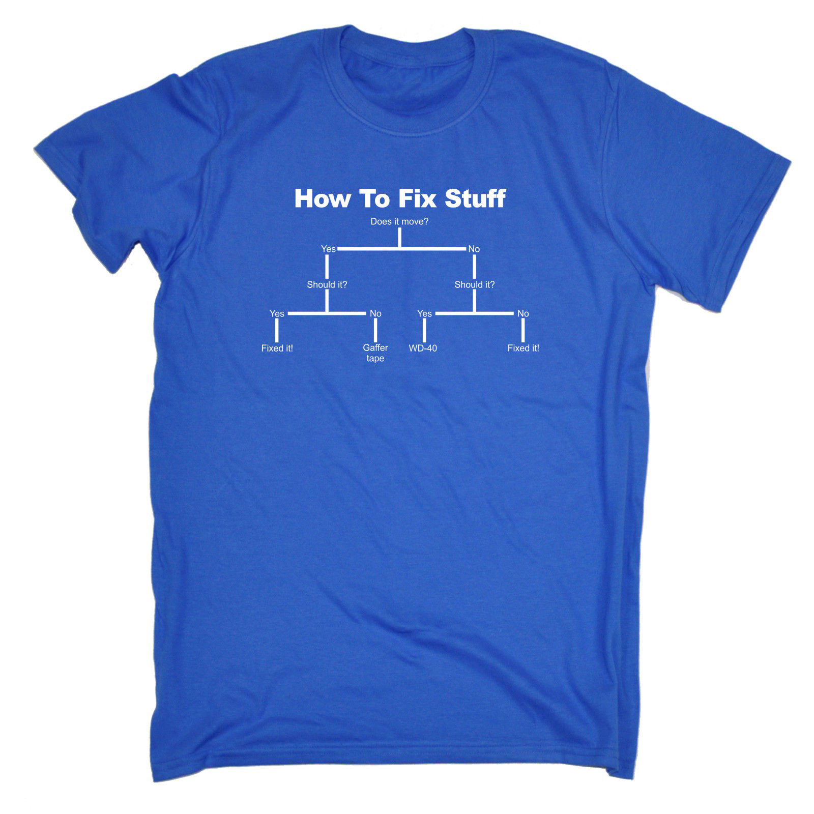How To Fix Stuff T SHIRT Tee Him Diy Engineer Builder Funny Gift