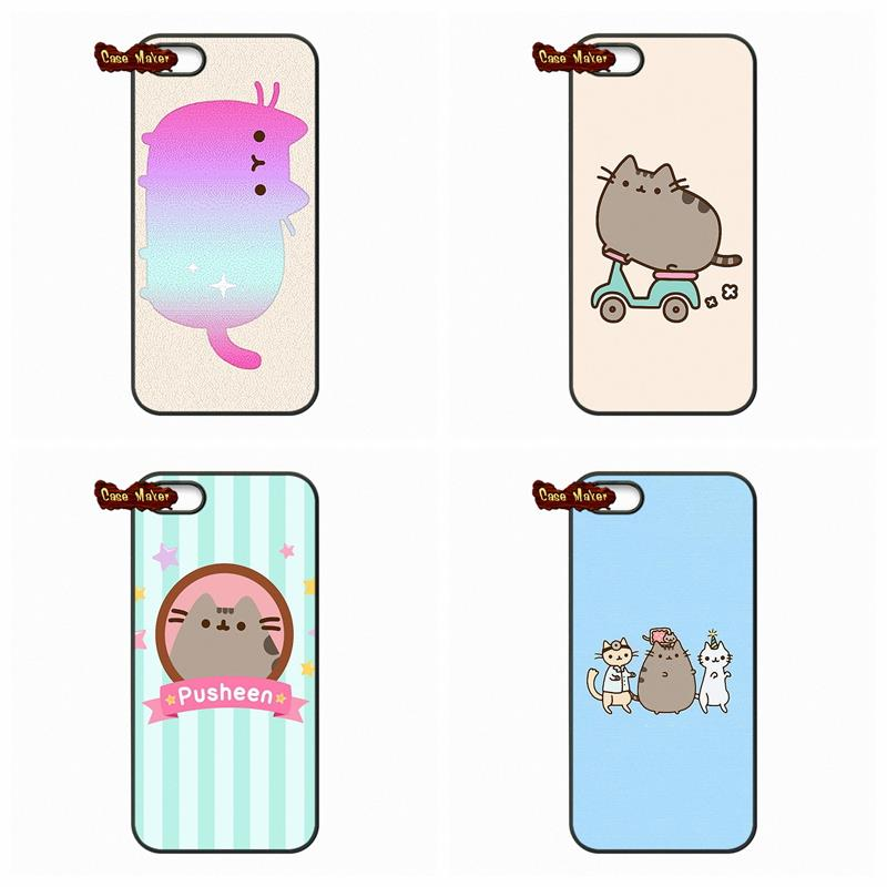Cute Pusheen Cat Background Pattern Case Cover For IPhone 4 4S 5S 5 5C 6 6S Plus Samsung Galaxy S2 S3 S4 S5 MINI S6 S7 Edge In Half Wrapped From
