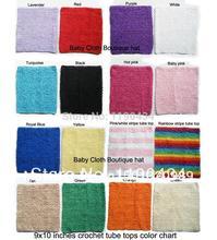 9x10 pouces Crotchet Tube Tutu haut 10 pouces crochet bandeaux bustiers 10 pièces par Lot
