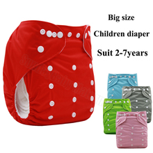 3-7years Children washable reusable nappies, waterproof cloth diapers baby and big size diapers for children