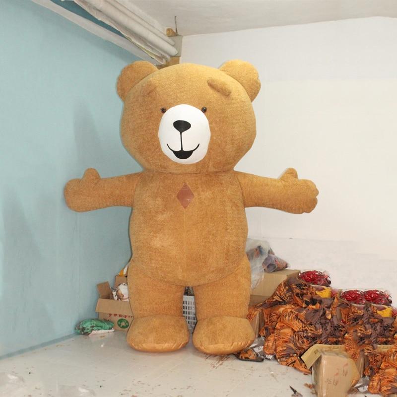 Nuovo Stile 3 M Gonfiabile Costume Gonfiabile Teddy Bear Per La Pubblicità Personalizzare Per Adulti Adatto Per 1.7 m A 1.9 m Adulto