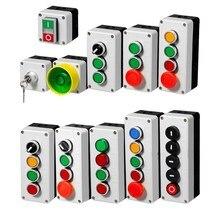 ボタンスイッチコントロールボックスプラスチックハンドヘルドシャワー自己始動ボタン防水ボックス電気工業緊急停止スイッチ私は