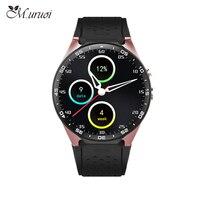 М. uruoi KW88 Смарт часы Bluetooth gps монитор сердечного ритма часы круглые Экран Смарт часы для iphone 6 huawei xiaomi IOS Android