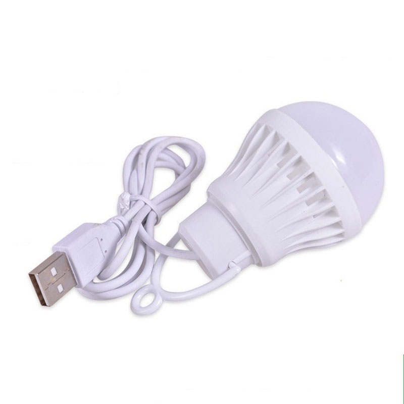 3W/5W/7W Usb Bulb Light Portable Lamp Led 5730 For Hiking Camping Tent Travel Work With Power Bank Notebook @
