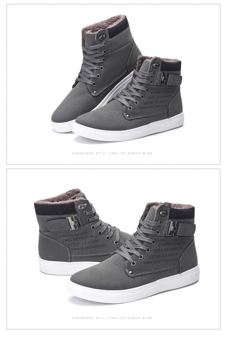 HTB1rNdyaovrK1RjSspcq6zzSXXaT DEKABR Hot Men Shoes Fashion Warm Fur Winter Men Boots Autumn Leather Footwear For Man New High Top Canvas Casual Shoes Men