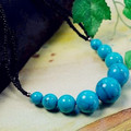 Beautiful Quality Glossy Blue Turquoise Chunky Beads Necklace Big Ball Small Black Beads Tibetan Style Original Charming Jewelry