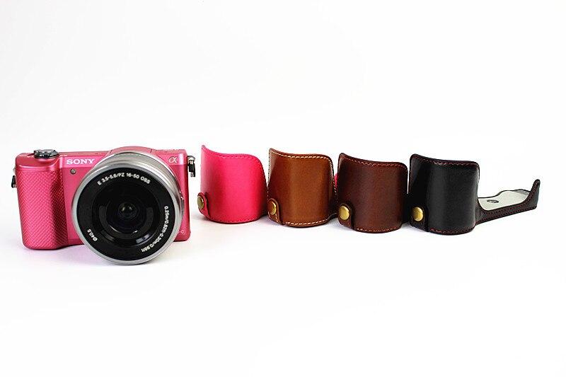 Из искусственной кожи камера Жесткий чехол сумка Защитная крышка кобура для sony a5100 половина средства ухода за кожей коричневый/черный/кофе/...
