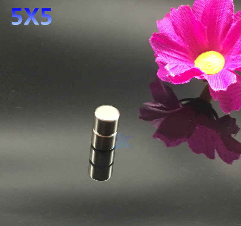 50pcs 5mmx5mm magnet Strong Round Cylinder Neodymium Magnets 5*5mm  NEW 5x5 Art Craft Connection free shipping 2 pcs new 44mm cylinder
