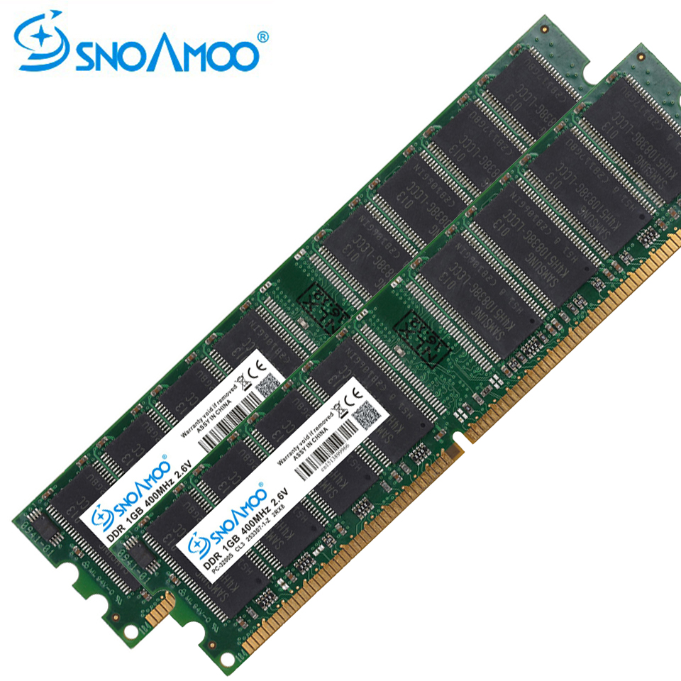 SNOAMOO Desktop PC RAMs DDR 333MHz 1GB RAM PC-2700U DDR1 400MHz DIMM Non-ECC Computer 184Pin Desktop Memory Lifetime Warrant