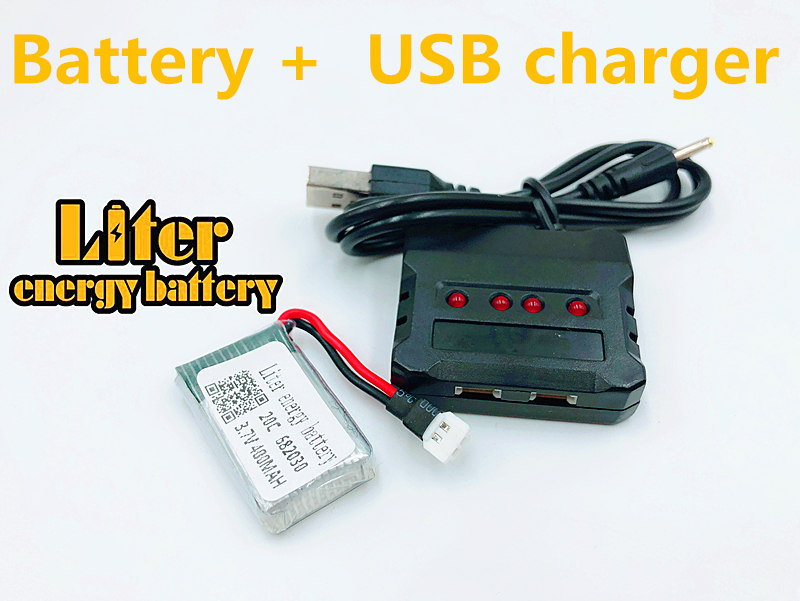 3.7V 400mAh 682030 20c Lipo <font><b>Battery</b></font> For X11C Remote Control Aircraft Accessories <font><b>3.7</b></font> <font><b>V</b></font> 400mAH 20C 3.7v Li-po <font><b>batteries</b></font> + charger image