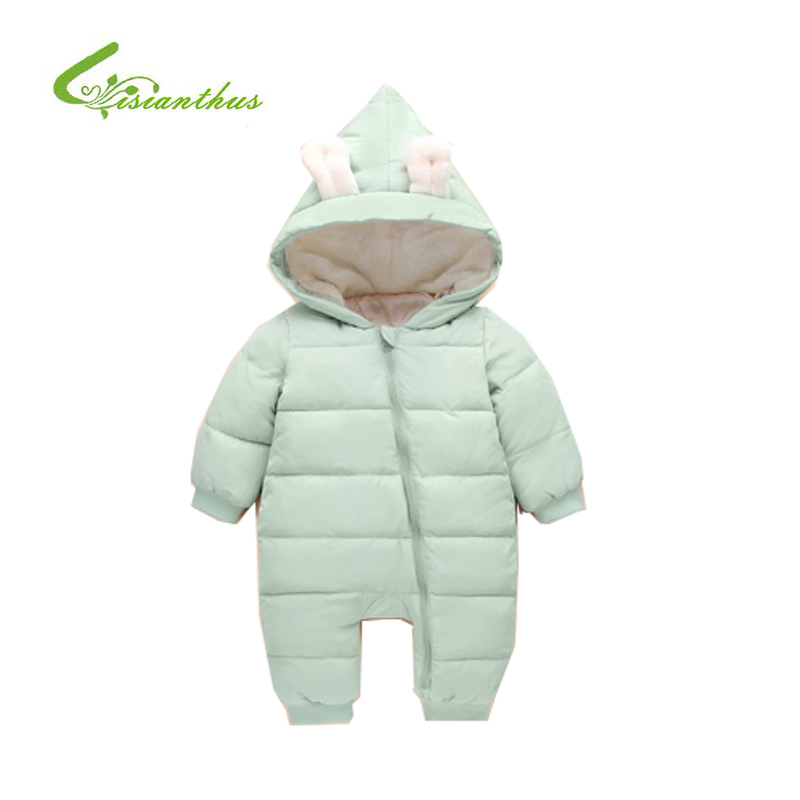 Baby Rompers Winter Jackets for Baby Girls Clothing Spring Autumn Coats Rabbit Ear Style Overalls For Baby Boys Newborn Clothes cotton baby rompers set newborn clothes baby clothing boys girls cartoon jumpsuits long sleeve overalls coveralls autumn winter
