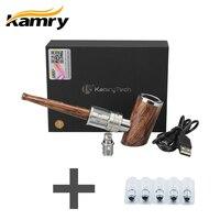 Extra 5pcs Atomizer Coils and 100% Original kamry k1000 Plus Electronic Cigarette E Pipe Hookah Pen Wooden E Pipe Full kit