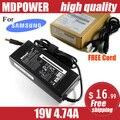 Mdpower для SUMSUNG R580 R590 R610 R65 портативный ноутбук питания зарядное устройство блок 19 В 4.74A