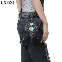 fanny pack for women motorcycle leg bag PU Rivet Women's waistband waist leg bag bum bag bolsa cintura a case for phone heuptas