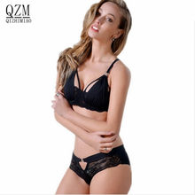 QIZHIMIAO Summer Style Lace Bra Brief Set Hot Underwear Women Brand Sexy Push up Bra Set High Quality Lingerie Set B C D/cup(China)