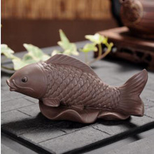 Креативный дизайн фиолетовая глина yixing Красивая рыбка Чай домашних животных различных форм животных элегантные kungfu приборы для чайной церемонии