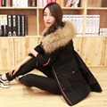 New 2017 Winter Coat Women's Down & Parkas Faux Raccoon Fur Hooded Collar Jacket Cotton Padded Lining Outerwear Army Green W073