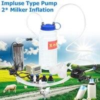 110 250V 2L Portable Electric Milking Machine Milker Cow Sheep Goat Milk Manual Pump Electric Impuls