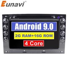 Eunavi 4 ядра 7 »2 Din Android 8,1 dvd-плеер автомобиля для Renault Megane 2 ii 2006 2007 2008 2009 радио gps-навигатор RDS 1024*600
