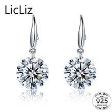 цены на LicLiz 925 Sterling Silver Zircon Diamond Drop Earrings for Women Fish Ear Hook Earrings Dangle CZ Stone Jewelry Earring LE0344  в интернет-магазинах