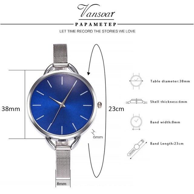 2018 Brand Colorful Dial Silver Mesh Stainless Steel Quartz Watches Fashion Women Wristwatch Reloj Mujer Relogio Feminino