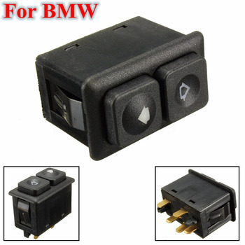 JX-LCLYL 1pc 5 Pin Power Window Switch For B-M-W E23 E24 E28 E30 61311381205 image