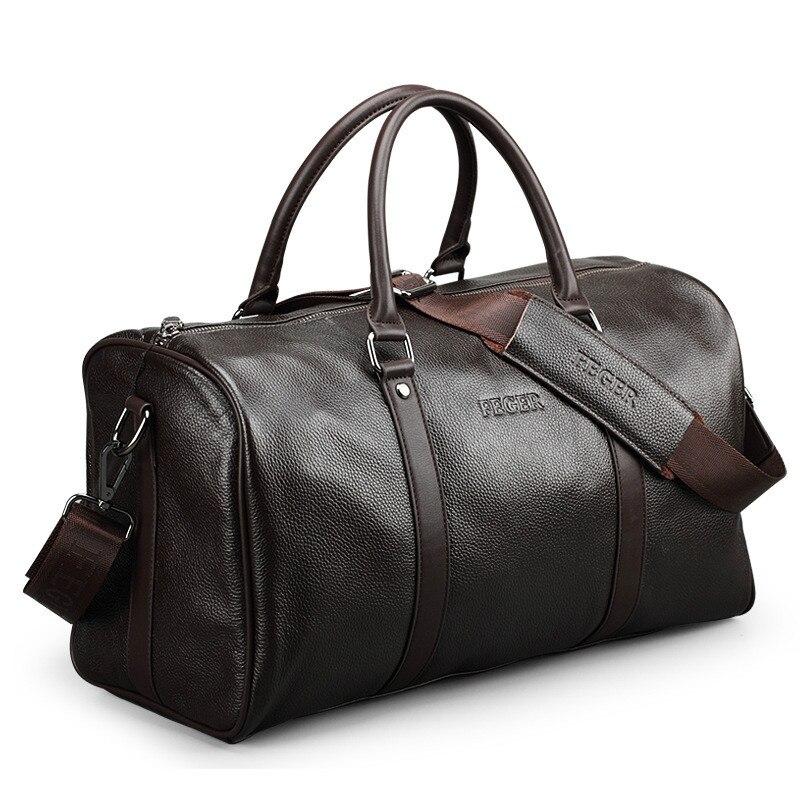 Luxury Brand Large Capacity Leather Men s Travel Bags Vintage Bucket Handbags Shoulder Bag Big Volume