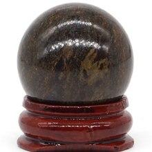 Natural Bronze Stone Ball Natural Mineral Quartz Sphere Hand Massage Crystal Ball Healing Feng Shui Home Decor Accessory 30mm шина