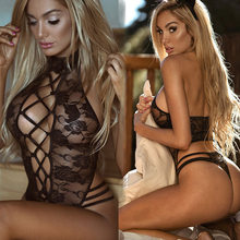Ms Sexy Strap sexy Lingerie Sexy Underwear com orelhas de gatos hot Backless Lace Babydoll das senhoras(China)