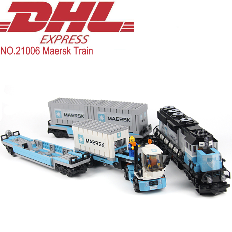 Lepin 21006 1234Pcs Technic Figures Maersk Train Model Building Kits Blocks Bricks Educational Toy For Children Compatible 10219 a toy a dream lepin 15008 2462pcs city street creator green grocer model building kits blocks bricks compatible 10185