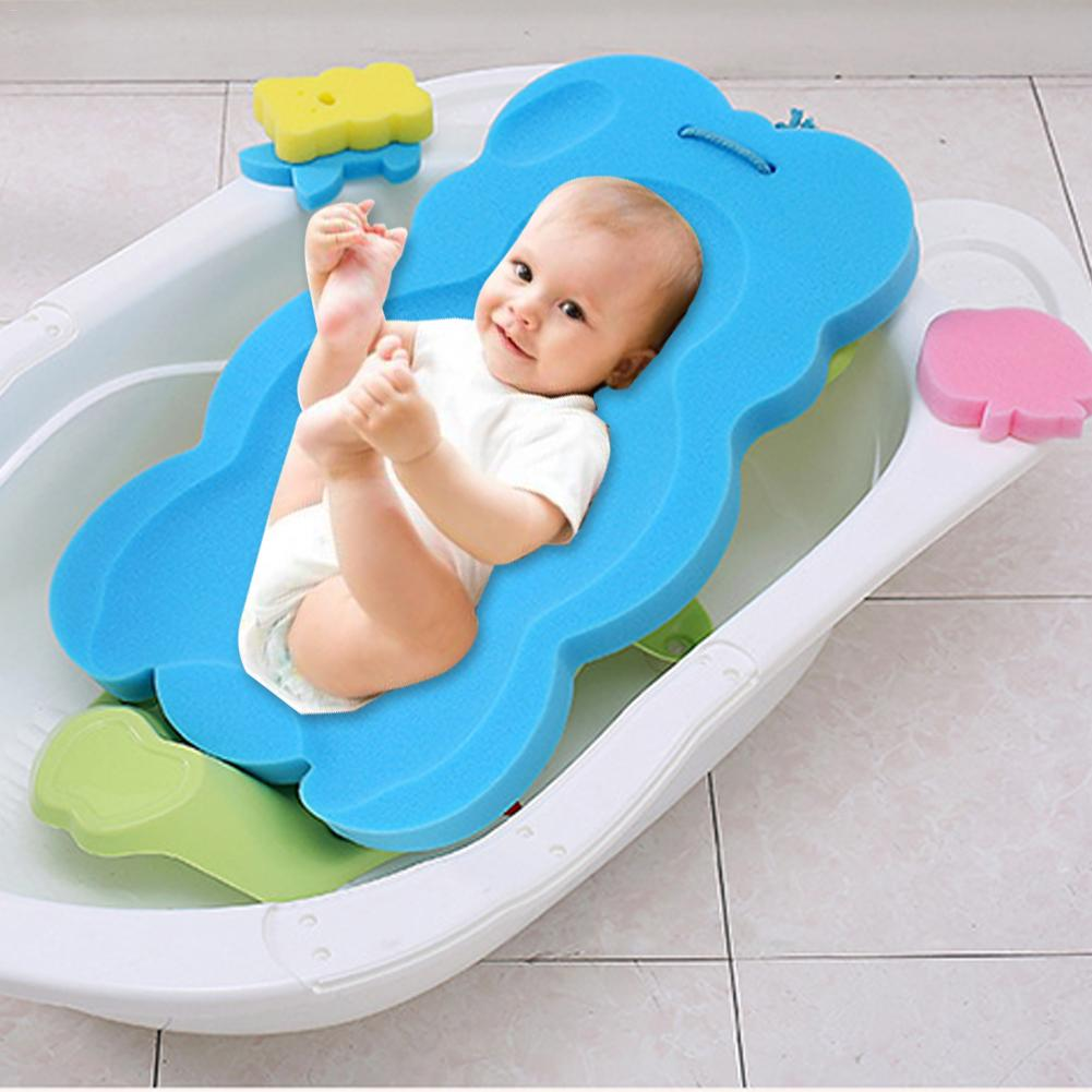 Mat Shower-Basin Bath-Net Newborn Sponge Can Lie Sit Universal title=