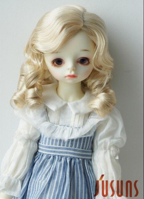 JD324 1/3 SD синтетический, мохеровый, для куклы парики 8-9 дюймов 21-23 см Шанхай Благородный Леди Ретро стиль волос - Цвет: Blond