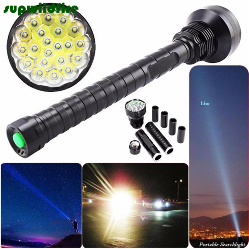 Фотография 28000LM  XM-L LED 21x T6 Super Flashlight Torch Lamp Light 5Mode 26650 18650 FreeShipping #NO16