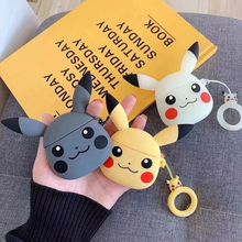 For AirPods Case Cartoon Cute Pocket Monsters Pika Earphone Cases For Apple Airpods Cover For