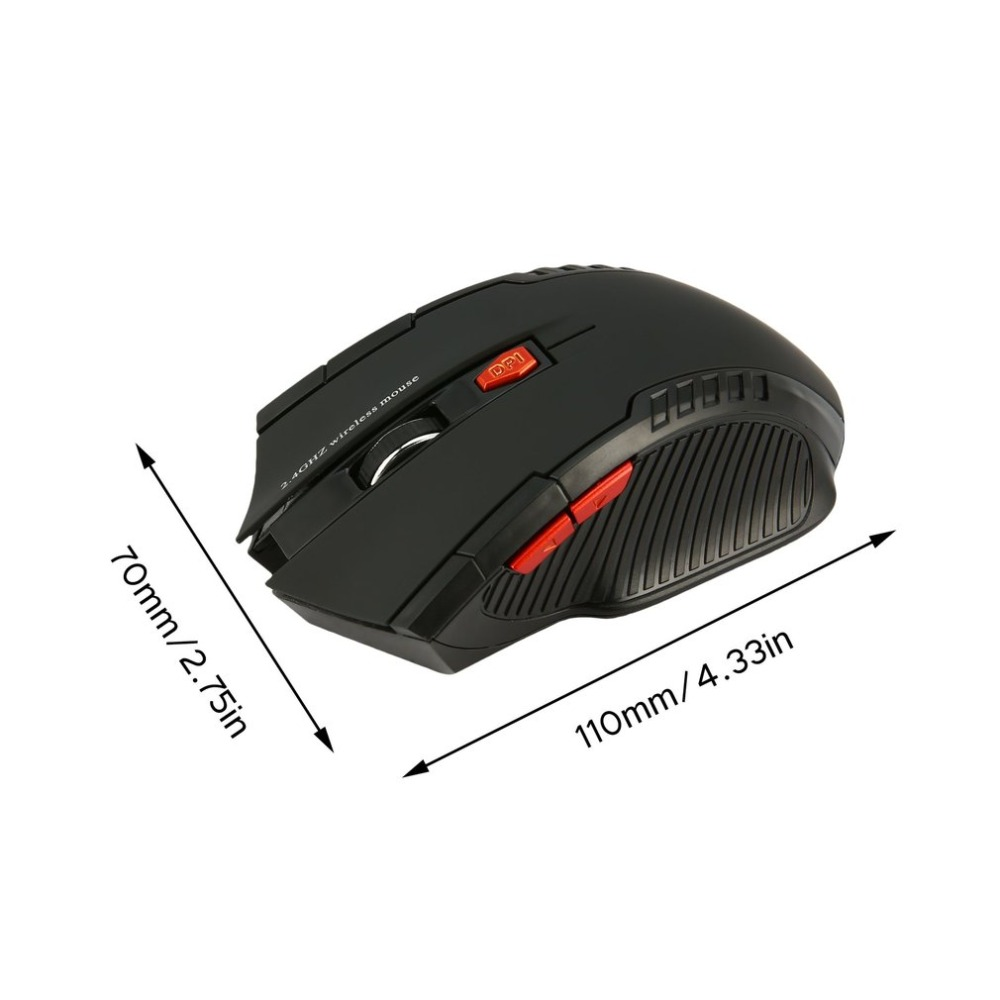 WH109 Portable 2 4GHz Wireless Optical Mouse With USB Receiver Designed for Home Office Game Playing Use Plug Play in Mice from Computer Office