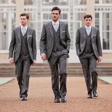 Custom Made New Arrive Fashion Style High Quality Groomsmen Suits Tuxedo One Button Tuxedo & Suits (Jacket+Pants+Vest)