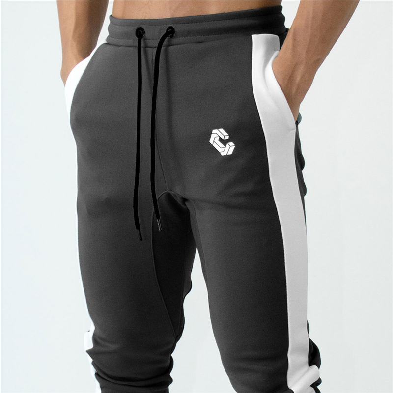 FRMARO Mens Joggers Casual Pants Gyms Fitness stitching Zipper ankle Skinny Sweatpants Trousers Male Brand Track Pants in Sweatpants from Men 39 s Clothing